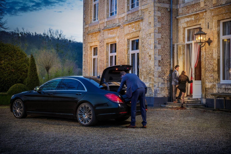 Mercedes S klasse met chauffeur